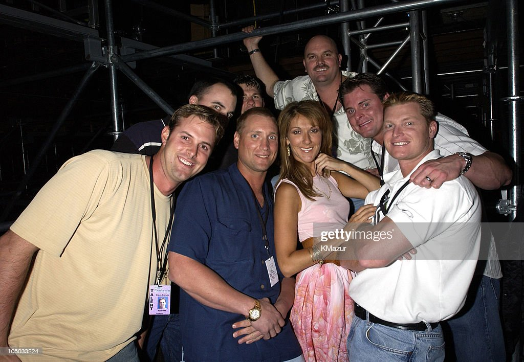 Celine Dion and the New York Yankees Steve Karsay John Vander Wal David Wells Jason Giambi Shane Spencer