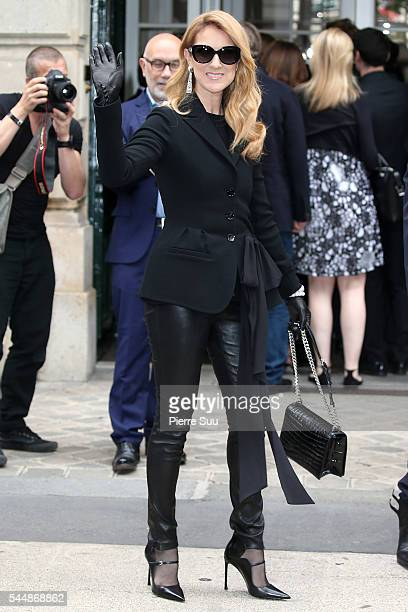 Celine Dion arrives at the Christian Dior Haute Couture Fall/Winter 20162017 show as part of Paris Fashion Week on July 4 2016 in Paris France