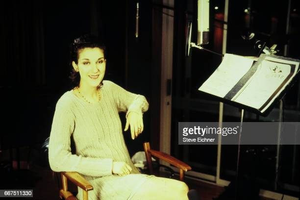 Celine Dion at recording session for the Tapestry Tribute album New York New York October 10 1994