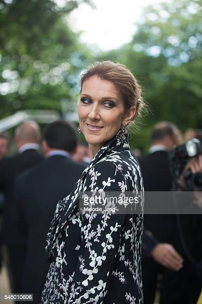 Celine Dion at the Giambattista Valli show at Grand Palais on July 4 2016 in Paris France