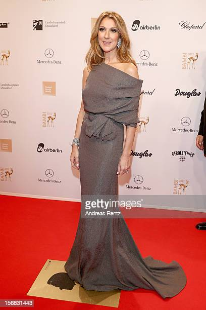 Celine Dion attends 'BAMBI Awards 2012' at the Stadthalle Duesseldorf on November 22 2012 in Duesseldorf Germany