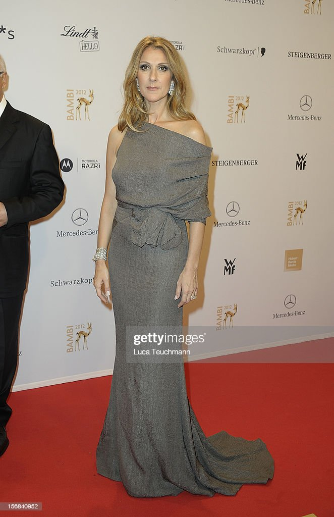 Celine Dion attends 'BAMBI Awards 2012' at the Stadthalle Duesseldorf on November 22, 2012 in Duesseldorf, Germany.