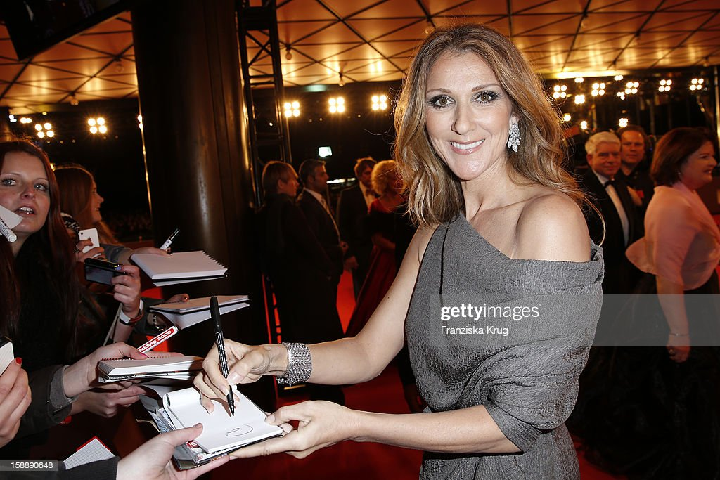 <a gi-track='captionPersonalityLinkClicked' href=/galleries/search?phrase=Celine+Dion&family=editorial&specificpeople=202973 ng-click='$event.stopPropagation()'>Celine Dion</a> attends the 'BAMBI Awards 2012' at the Stadthalle Duesseldorf on November 22, 2012 in Duesseldorf, Germany.