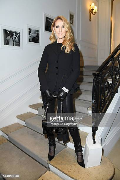 Celine Dion attends the Christian Dior Haute Couture Fall/Winter 20162017 show as part of Paris Fashion Week at 30 Avenue Montaigne on July 4 2016 in...