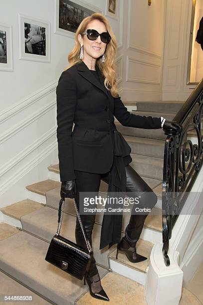Celine Dion attends the Christian Dior Haute Couture Fall/Winter 20162017 show as part of Paris Fashion Week on July 4 2016 in Paris France