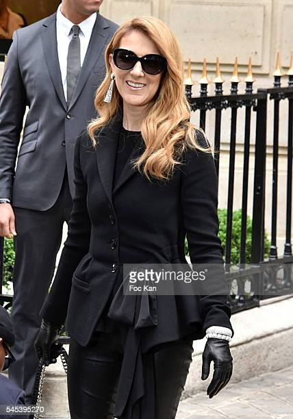 Celine Dion attends the Christian Dior Haute Couture Fall/Winter 20162017 show as part of Paris Fashion Week on July 4 2016 in Paris France 07/