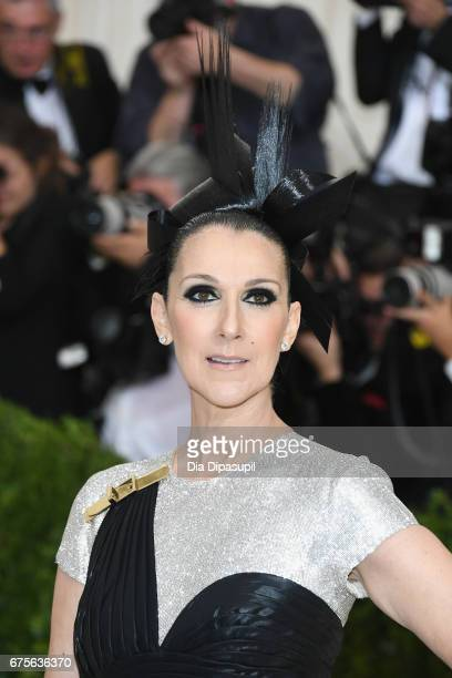 Celine Dion attends the 'Rei Kawakubo/Comme des Garcons Art Of The InBetween' Costume Institute Gala at Metropolitan Museum of Art on May 1 2017 in...