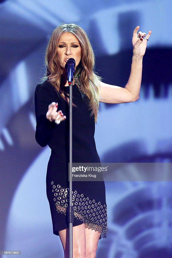 Celine Dion attends Wetten, dass..? tv show on November 09, 2013 in Halle an der Saale, Germany.