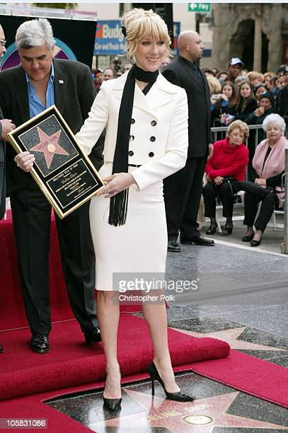 Celine Dion during Celine Dion Recieves a Star on the Hollywood Walk of Fame at Mann Chinese 6 Theatre in Hollywood California United States