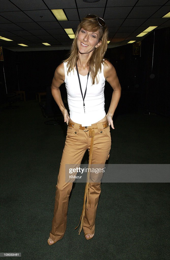 Celine Dion during Z100's Zootopia 2002 - Backstage with the New Jersey Nets & New York Yankees at Giants Stadium in East Rutherford, New Jersey, United States.