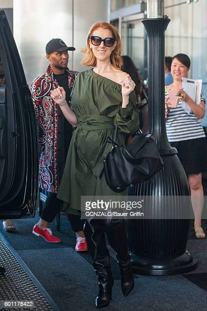 Celine Dion is seen at the Downtown LA RitzCarlton hotel on September 09 2016 in Los Angeles California