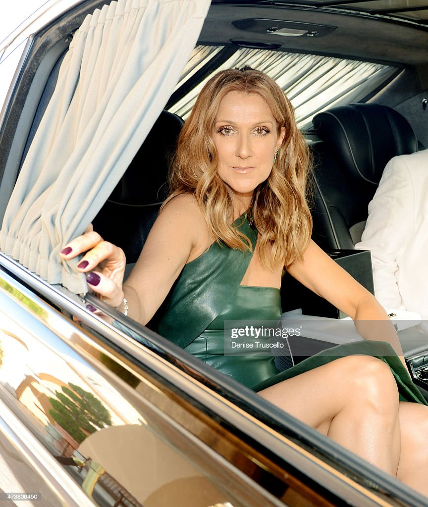 Celine Dion leaves for the 2015 Billboard Music Awards on May 17, 2015 in Las Vegas, Nevada.