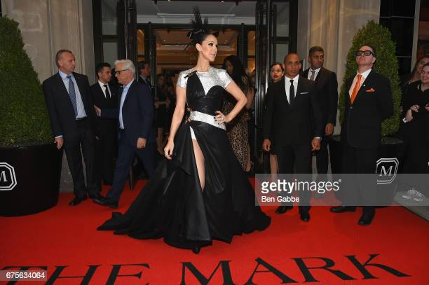 Celine Dion leaves from The Mark Hotel for the 2017 'Rei Kawakubo/Comme des Garçons Art of the InBetween' Met Gala on May 1 2017 in New York City