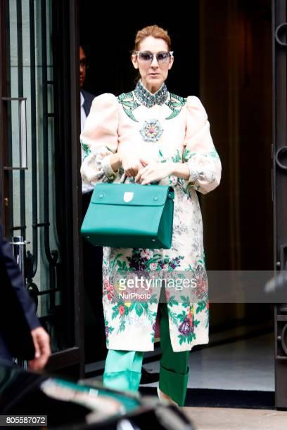 Celine Dion leaves her hotel in Paris France on July 2 2017