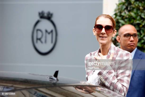 Celine Dion leaves the hotel Royal Monceau in Paris France on July 20 2017
