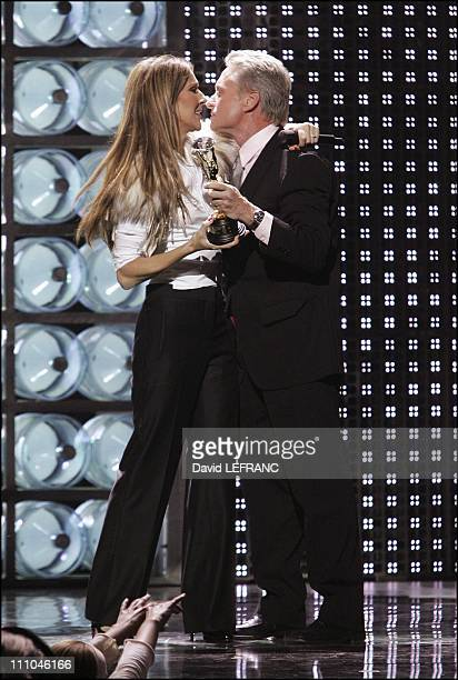 Celine Dion Michael Douglas at The sixteenth World Music Award in Las Vegas United States on September 16 2004
