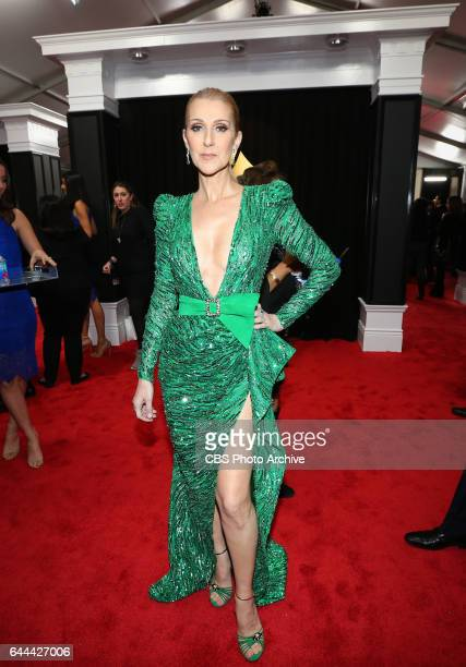 Celine Dion on the Red Carpet at THE 59TH ANNUAL GRAMMY AWARDS broadcast live from the STAPLES Center in Los Angeles Sunday Feb 12 on the CBS...
