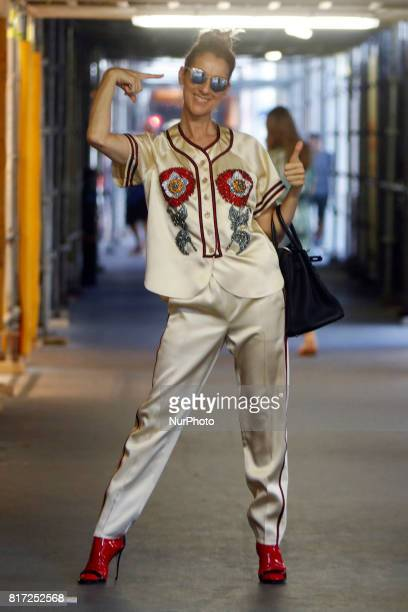 Celine Dion out with her child visit a shop in Paris France on July 17 2017 Celine Dion is a Canadian singer and businesswoman
