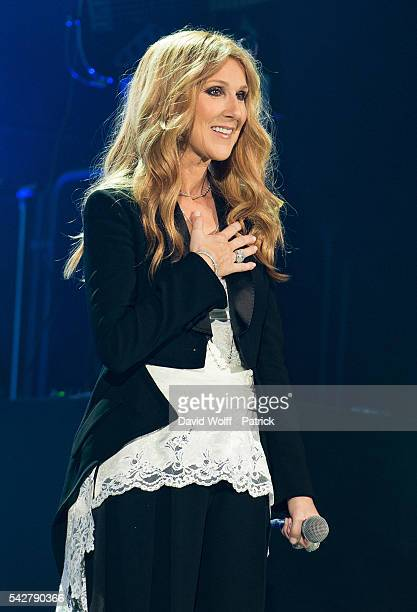Celine Dion performs at AccorHotels Arena on June 24 2016 in Paris France