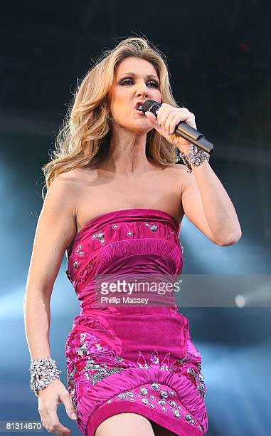 Celine Dion performs at Croke Park on May 30 2008 in Dublin Ireland