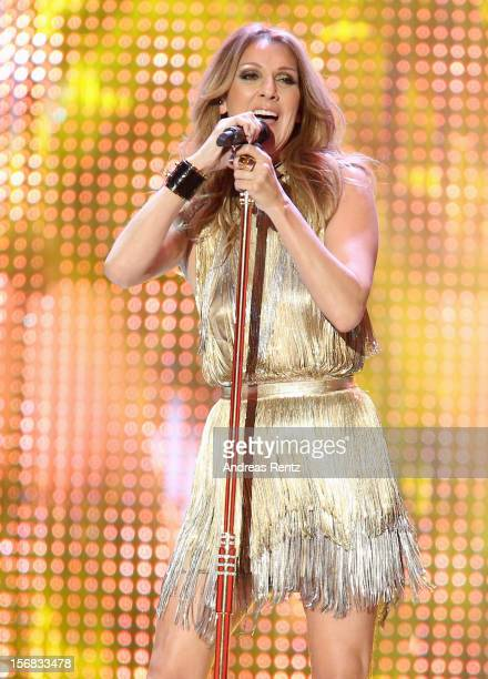 Celine Dion performs during 'BAMBI Awards 2012' at the Stadthalle Duesseldorf on November 22 2012 in Duesseldorf Germany