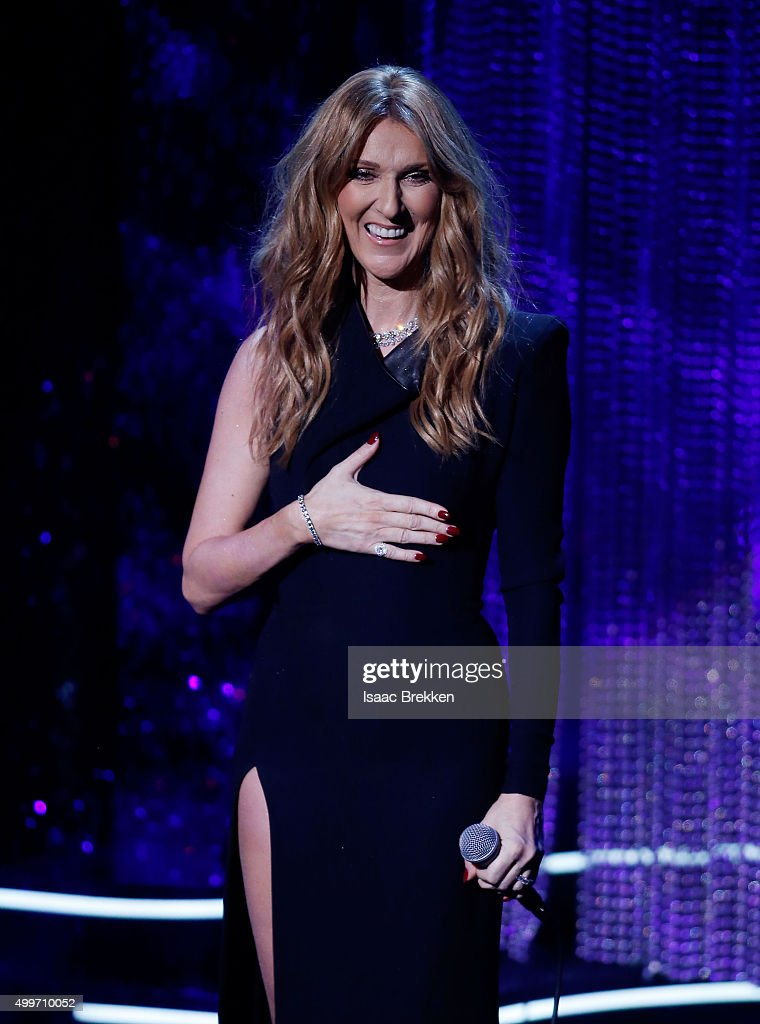 Celine Dion performs during 'Sinatra 100: An All-Star GRAMMY Concert' celebrating the late Frank Sinatra's 100th birthday at the Encore Theater at Wynn Las Vegas on December 2, 2015 in Las Vegas, Nevada. The show will air on CBS on December 6.