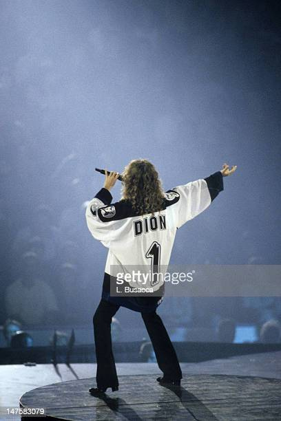 Celine Dion performs in concert circa 1994 in New York City