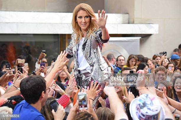 Celine Dion performs on NBC's 'Today' show at Rockefeller Plaza on July 22 2016 in New York City