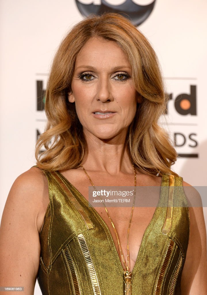 Celine Dion poses in the press room during the 2013 Billboard Music Awards at the MGM Grand Garden Arena on May 19, 2013 in Las Vegas, Nevada.
