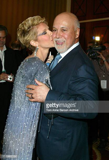 Celine Dion Rene Angelil during Celine Dion Opening Night Of 'A New Day' Post Concert Press Conference at The Colosseum at Caesars Palace in Las...