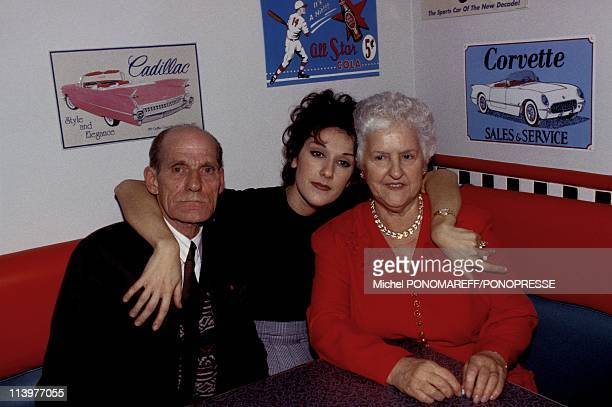 Celine Dion's celebrates 26th Birthday with Parents in her Restaurant 'Nickel's' In Montreal Canada On March 07 1994