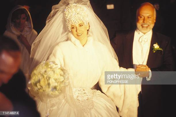 Celine Dion's Wedding In Montreal Canada On December 15 1994Celine Dion with husband Rene Angelil