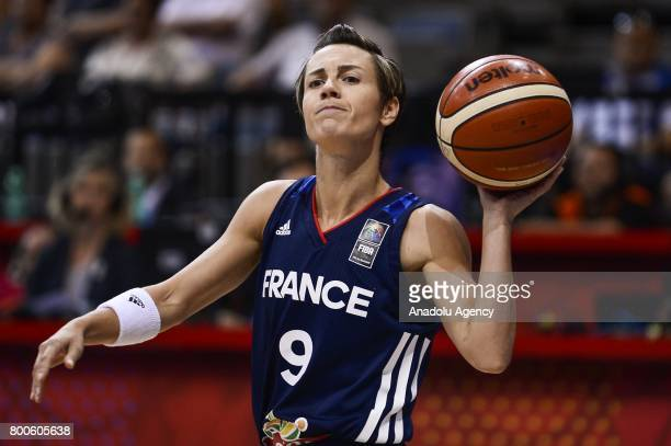 Celine Dumerc of France in action during the FIBA EuroBasket 2017 women's semifinal match between Greece and France at Prague Arena in Prague Czech...