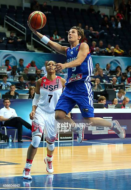 Celine Dumerc of France jumps to score during the 2014 FIBA Women's World Championship quarterfinal basketball match between USA vs France at...