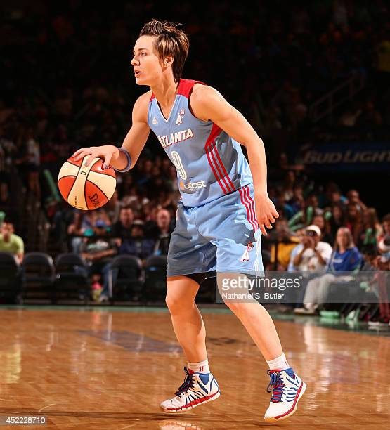 Celine Dumerc of the Atlanta Dream during a game against the New York Liberty at Madison Square Garden in New York City on July 16 2014 NOTE TO USER...