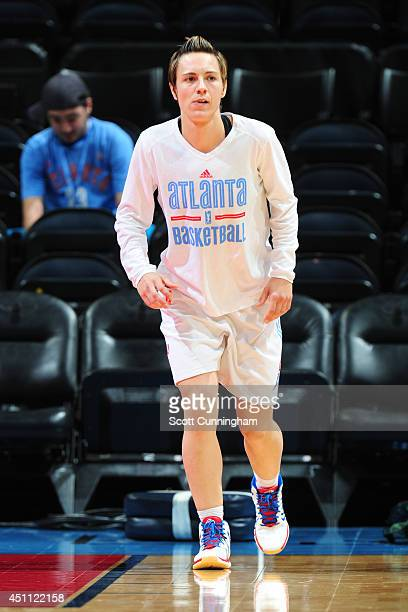 Celine Dumerc of the Atlanta Dream warms up before the game against the New York Liberty on June 20 2014 at Philips Arena in Atlanta Georgia NOTE TO...
