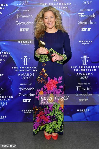 Celine Roux poses backstage at the 2017 Fragrance Foundation Awards Presented By Hearst Magazines at Alice Tully Hall on June 14 2017 in New York City