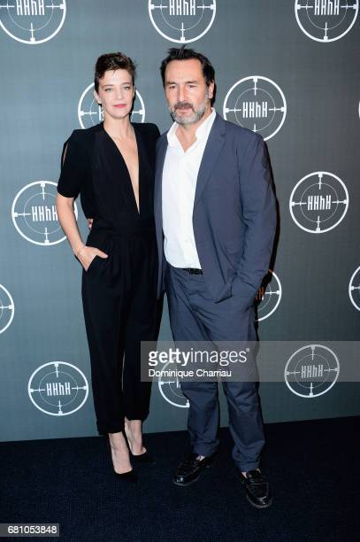 Celine Salette and Gilles Lellouche attends the 'HHHH' Paris Premiere at Cinema UGC Normandie on May 9 2017 in Paris France