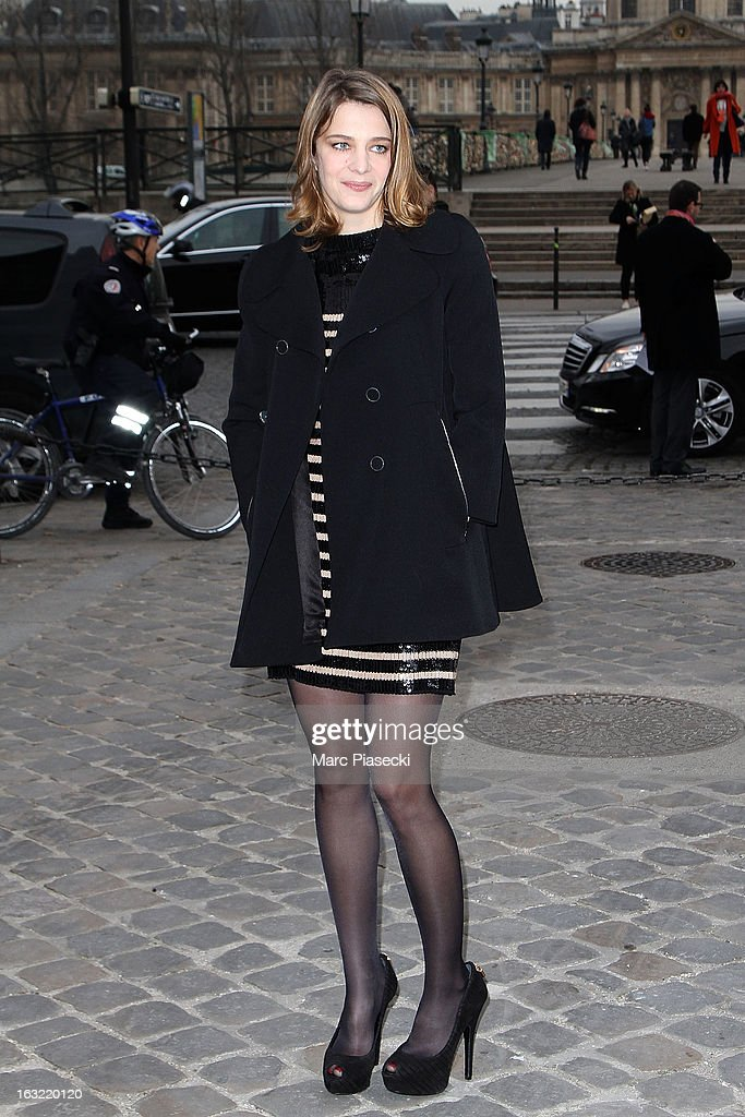 Celine Salette arrives to attend the 'Louis Vuitton' Fall/Winter 2013 Ready-to-Wear show as part of Paris Fashion Week on March 6, 2013 in Paris, France.