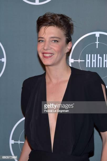 Celine Salette attends 'HHHH' Paris Premiere at Cinema UGC Normandie on May 9 2017 in Paris France