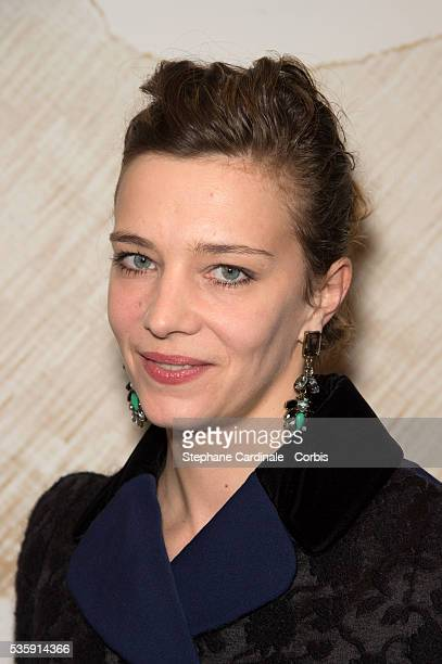 Celine Salette attends the Chaumet's Cocktail Party for Cesar's Revelations 2014 at Salons Chaumet followed by a dinner at Hotel Meurice in Paris
