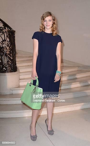 Celine Salette attends the Christian Dior HauteCouture show as part of Paris Fashion Week Fall / Winter 2013