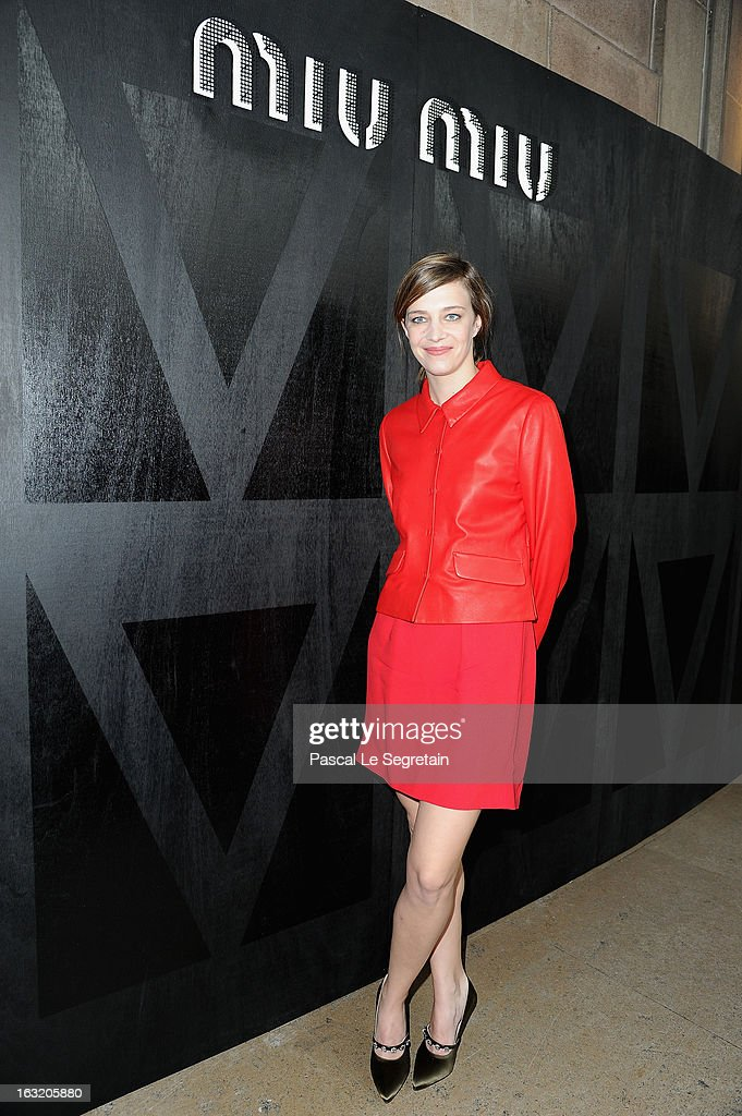 Celine Salette attends the Miu Miu Fall/Winter 2013 Ready-to-Wear show as part of Paris Fashion Week on March 6, 2013 in Paris, France.