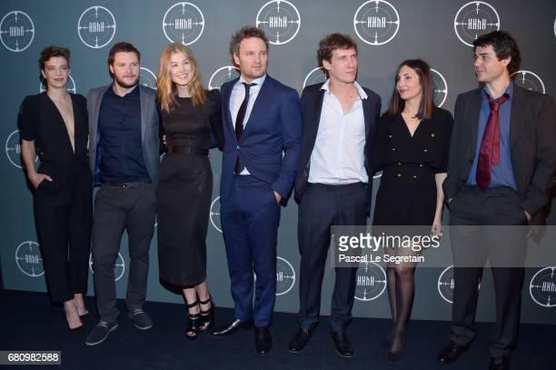 Celine Salette Jack Reynor Rosamund Pike Jason Clarke Cedric Jimenez Audrey Diwan and Laurent Binet attend 'HHHH' Paris Premiere at Cinema UGC...