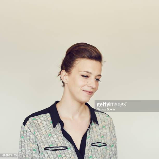 Celine Salette poses during the 'Geronimo' portrait session at the 67th Annual Cannes Film Festival on May 19 2014 in Cannes France