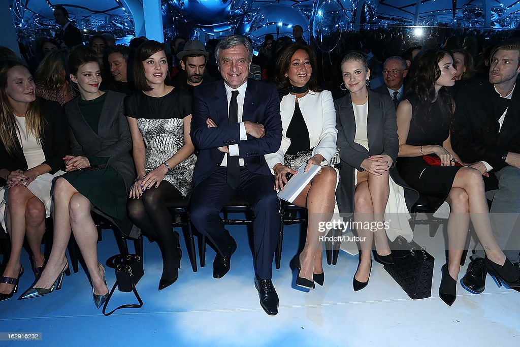 Celine Salette,Marion Cotillard, Sidney Toledano, Katya Toledano, Melanie Laurent, Chelsea Tyler attend the Christian Dior Fall/Winter 2013 Ready-to-Wear show as part of Paris Fashion Week on March 1, 2013 in Paris, France.