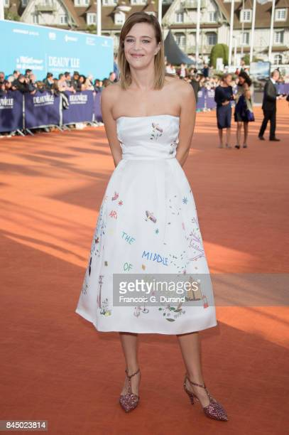 Celine Sallette arrives at the closing ceremony of the 43rd Deauville American Film Festival on September 9 2017 in Deauville France