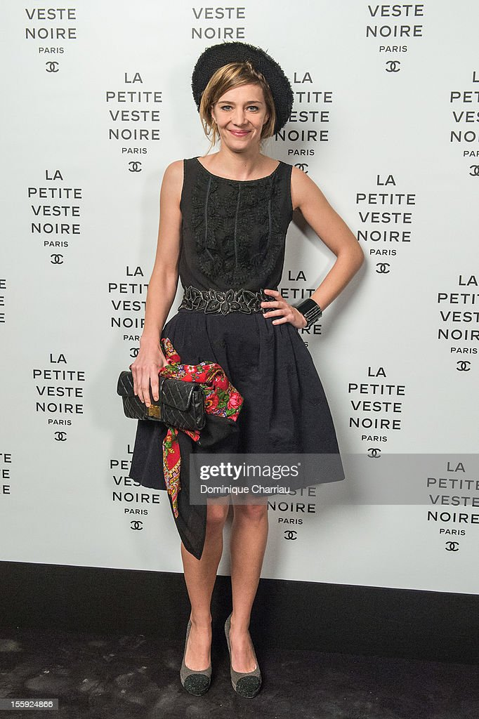 <a gi-track='captionPersonalityLinkClicked' href=/galleries/search?phrase=Celine+Sallette&family=editorial&specificpeople=6484842 ng-click='$event.stopPropagation()'>Celine Sallette</a> attends 'La Petite Veste Noire' Book Launch Hosted By Karl Lagerfeld & Carine Roitfeld at Grand Palais on November 8, 2012 in Paris, France.