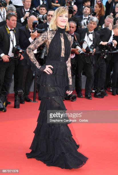 Celine Sallette attends the 70th Anniversary of the 70th annual Cannes Film Festival at Palais des Festivals on May 23 2017 in Cannes France