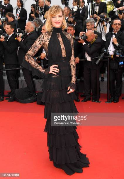 Celine Sallette attends the 70th Anniversary screening during the 70th annual Cannes Film Festival at Palais des Festivals on May 23 2017 in Cannes...